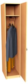 Expo garderobe met hoedenplank en intrekbare hanger - beuken