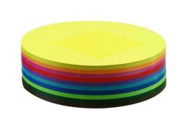 500 vel vouwkartons G1 20cm rond 10 kleuren assorti