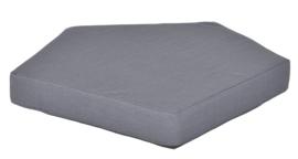 Quadro 2 matras  donker grijs, hoogte 10 cm