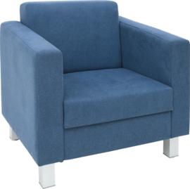 Relax fauteuil marineblauw - vierkante poten