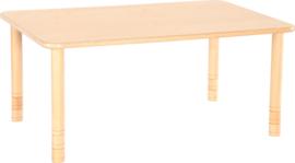 Rechthoekige Flexi tafel 120x80cm beuken in hoogte verstelbaar