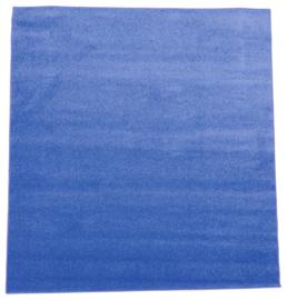 Eenkleurig tapijt - blauw 2 x 3 m