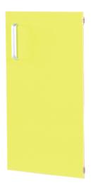 Deur voor smalle kast Flexi en kast M met scheidingswand rechts - lime