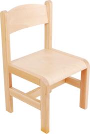 Houten stoelen met viltdoppen , naturel maat 1-3