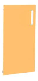 Deur voor smalle kast Flexi en kast M met scheidingswand links - oranje
