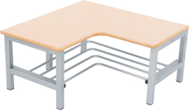 Flexi garderobe hoekbank 4, zithoogte 35 cm., esdoorn