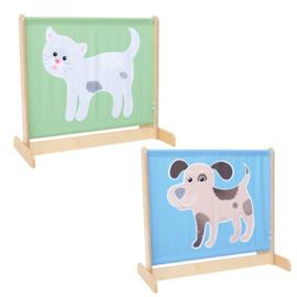 Afscheidingsscherm laag - hond/kat