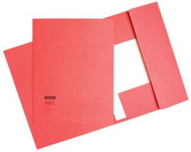 50x Aktemappen 3 kleppen A4 320gr rood