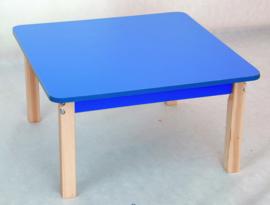 Vierkant kleurrijk tafelblad blauw