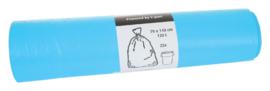 Afvalzak Blinc 70x110cm 16micron 120liter blauw 25stuks