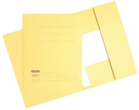 50x Aktemappen 3 kleppen A4 320gr licht geel