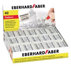 Gum Eberhard Faber 40 stuks EF-585440 - Wit