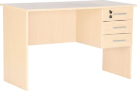 Vigo bureau met 3 laden -  esdoorn