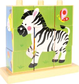Stapel puzzel - wilde dieren
