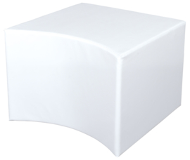 Holle witte poef zithoogte 44 cm
