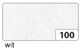 Crepepapier  250x50cm nr100 wit