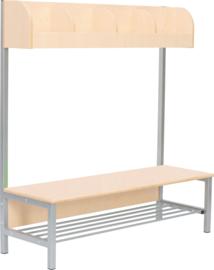 Flexi garderobe met frame 4, hoogte: 35 cm, berk, vlamvertragend