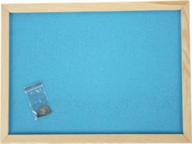 Prikbord 100 x 150 cm - lichtblauw