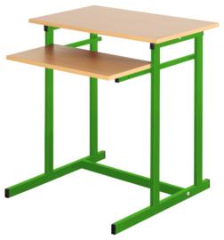 Computerbureau NEO 1, enkel, met vaste toetsenbordlade -  groen