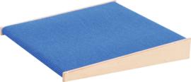 Platform schuin, hoogte: 10 cm,  blauw