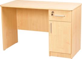 Vigo-bureau met afgeronde randen, met kast en lade, beuken