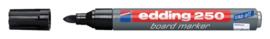 Viltstift edding 250 whiteboard rond zwart 1.5-3mm