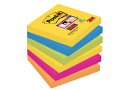 Memoblok 3M Post-it 654-SSRO Super Sticky 76x76mm Rio