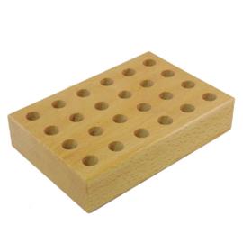 Potlodenblok hout voor 24  kleurknotsen groot