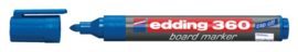 Viltstift edding 360 whiteboard rond blauw 3mm
