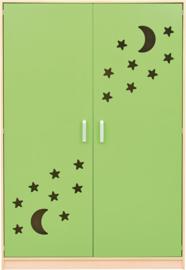 Kast voor stretchers 501001, groene deuren