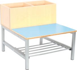Flexi combibank 2, zithoogte 26 cm., lichtblauw