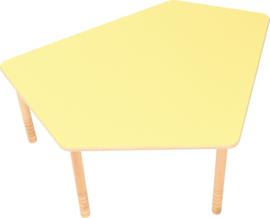 Vijfhoekig Flexi tafelblad geel