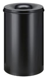 Papierbak met vlamdover Vepabins 110 liter zwart