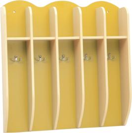 Plank voor bekers - geel