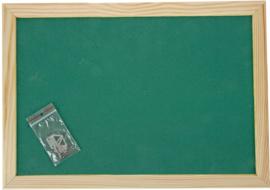 Prikbord 90 x 120 cm - groen