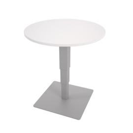Ronde tafel 70 cm met hoogteverstelling - wit