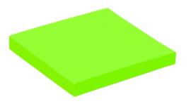 Memoblaadjes Quantore 76x76mm neon groen