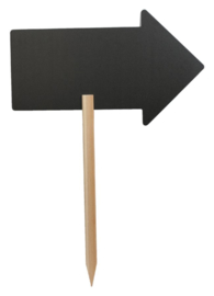 Krijtbord Securit pijl 73x45cm met houten pin