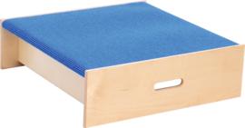 Vierkant platform, hoogte: 20 cm,  blauw