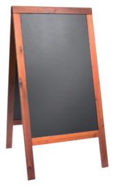 Stoepbord Securit 70x125x4cm mahonie hout