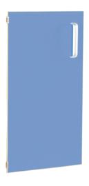 Deur voor smalle kast Flexi en kast M met scheidingswand links - blauw