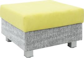 Vierkante relax-poef grijs/groen - vierkante poten