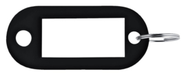 Sleutellabel Pavo kunststof zwart