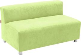 Flexi brede bank, zithoogte 35 cm, groen