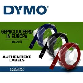 1 set Labeltape Dymo rol 9mmx3M glossy vinyl assorti