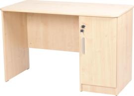 Vigo-bureau met afgeronde randen, met kast  beuken