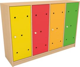 Deuren voor regenboog garderobe 4 stks