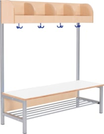 Flexi garderobe met frame 4, breed, 35 cm wit