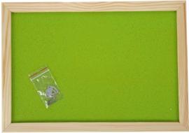Prikbord 90 x 120 cm - lichtgroen