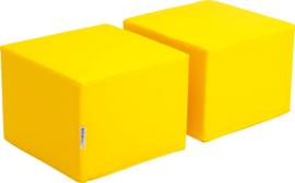 Zachte poefs voor Premium-kast - geel